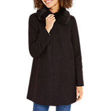 Buy Oasis Swing Princess Coat, Black Online at johnlewis.com