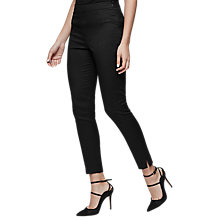 Buy Reiss Lea Jacquard Skinny Trousers, Black Online at johnlewis.com