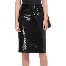 Buy Whistles Sequin Pencil Skirt, Black Online at johnlewis.com