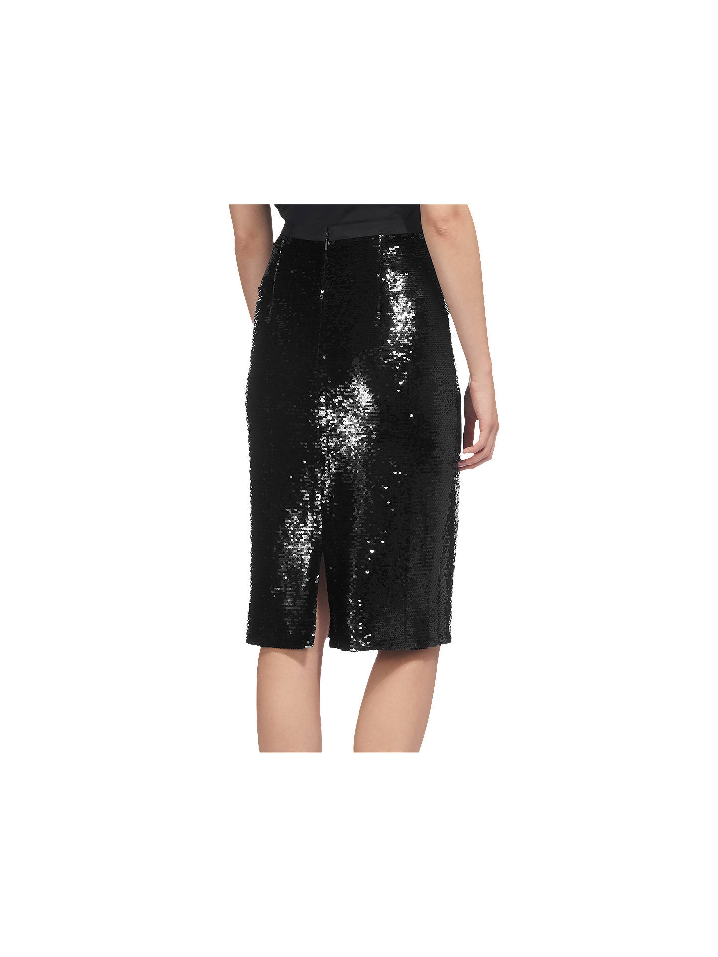 b28f3d8d0fc8 ... Buy Whistles Sequin Pencil Skirt, Black, 6 Online at johnlewis.com ...