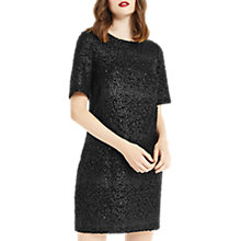 Buy Oasis Animal Popcorn Shift Dress, Black Online at johnlewis.com