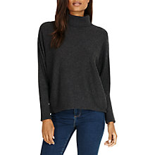 Buy Phase Eight Becca Roll Neck Jumper, Charcoal Marl Online at johnlewis.com
