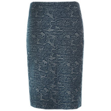 Buy White Stuff Leaf Jersey Jacquard Skirt, Sea Green Online at johnlewis.com