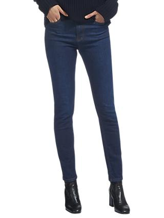 Whistles Dark Wash Skinny Jeans, Dark Denim