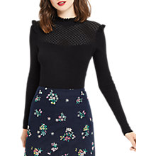 Buy Oasis Pointelle Cute Frill Jumper Online at johnlewis.com