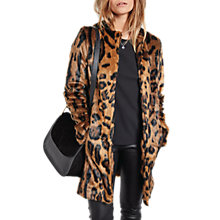Buy hush Leo Faux Fur Coat, Leopard Online at johnlewis.com
