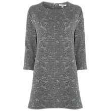 Buy White Stuff Leafy Jacquard Tunic Dress, Grey Print Online at johnlewis.com