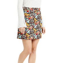 Buy Oasis Printed Cut Above Cord Skirt, Multi Online at johnlewis.com