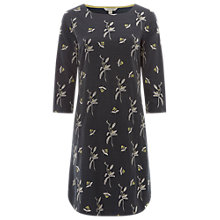 Buy White Stuff Embroidered Jersey Dress, Forest Green Online at johnlewis.com