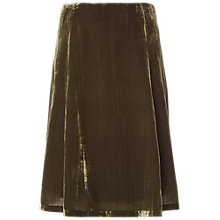 Buy White Stuff Anastasia Velvet Crush Skirt, Citron Green Online at johnlewis.com
