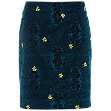 Buy White Stuff Falling Leaves Velvet Skirt, Sea Green Online at johnlewis.com