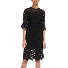 Buy Whistles Amanda Lace Dress, Black Online at johnlewis.com