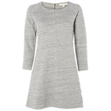 Buy White Stuff Textured Seam Jersey Tunic, Grey Melange Online at johnlewis.com