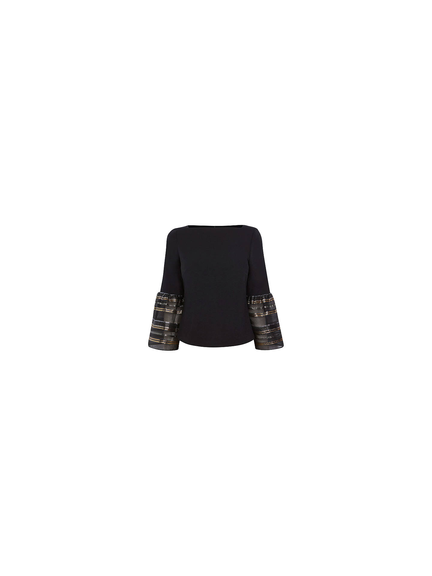 BuyCoast Keji Stripe Sleeve Top, Black, 6 Online at johnlewis.com