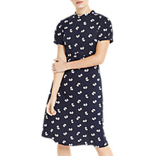 Buy Oasis Long Bow Skater Dress, Multi/Blue Online at johnlewis.com