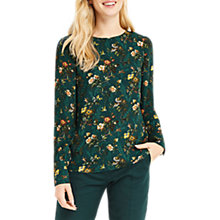 Buy Oasis Rosetti Deep Cuff Top, Multi/Green Online at johnlewis.com