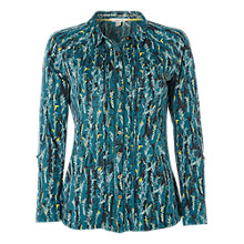 Buy White Stuff Hedgerow Jersey Shirt, Sea Green/Multi Online at johnlewis.com