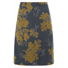 Buy White Stuff Scattered Leaf Skirt, Grey/Meadow Online at johnlewis.com