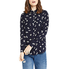 Buy Oasis Bow Print Shirt, Multi/Blue Online at johnlewis.com