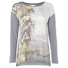 Buy White Stuff Dewsberry Print Jersey Top, Green Online at johnlewis.com