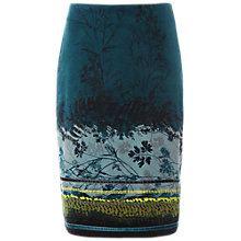Buy White Stuff Foliage Border Velvet Skirt, Green Online at johnlewis.com