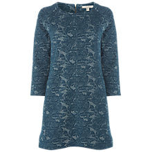 Buy White Stuff Leafy Jacquard Jersey Tunic Dress, Sea Green Online at johnlewis.com