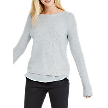 Buy Oasis Sequin Mix Jumper, Mid Grey Online at johnlewis.com