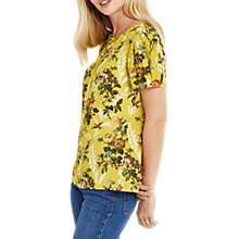 Buy Oasis Rosetti 40s Sleeve Top, Multi/Yellow Online at johnlewis.com