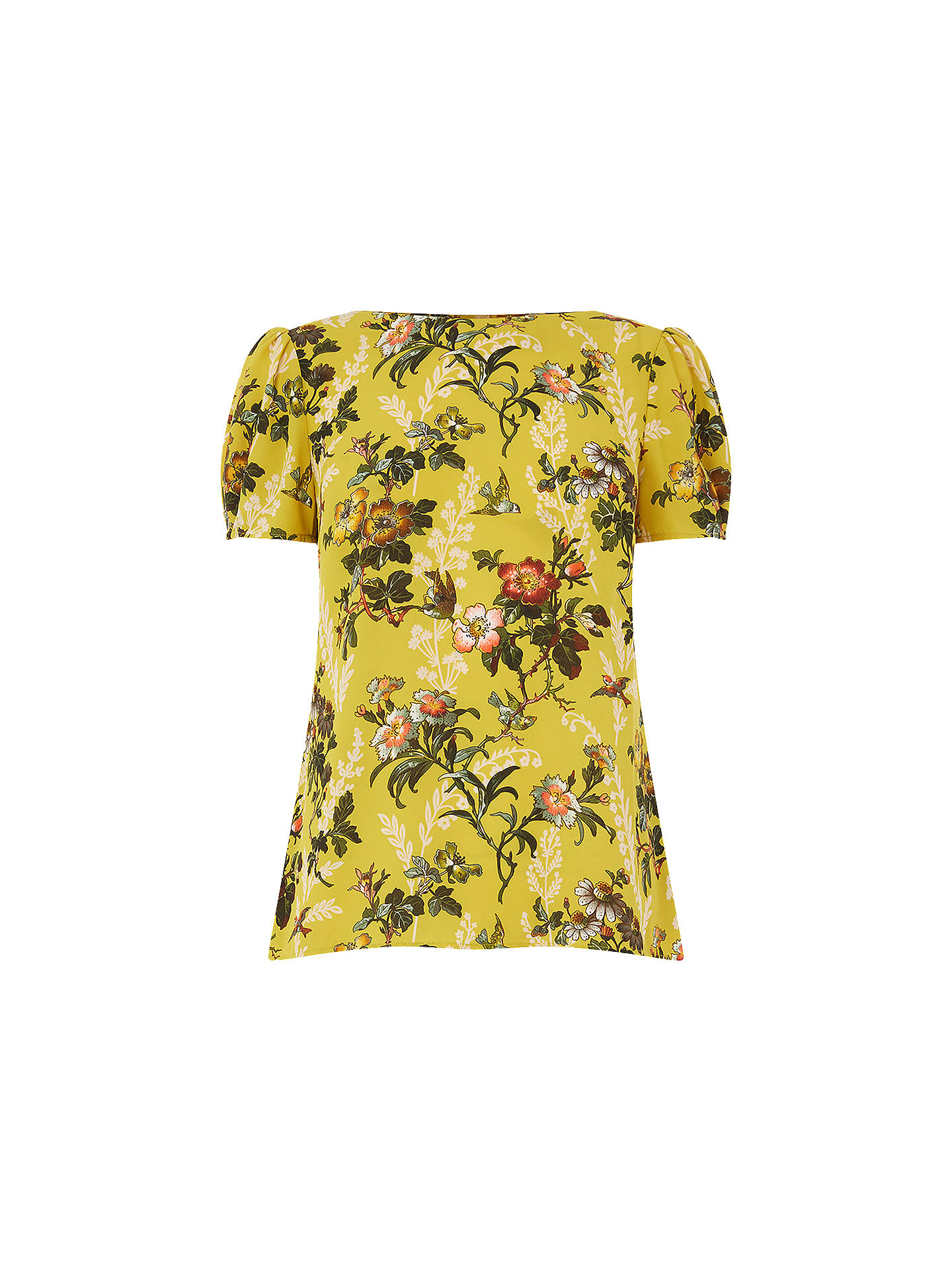 BuyOasis Rosetti 40s Sleeve Top, Multi/Yellow, 8 Online at johnlewis.com