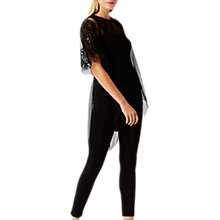 Buy Coast Mikey Suedette Leggings, Black Online at johnlewis.com