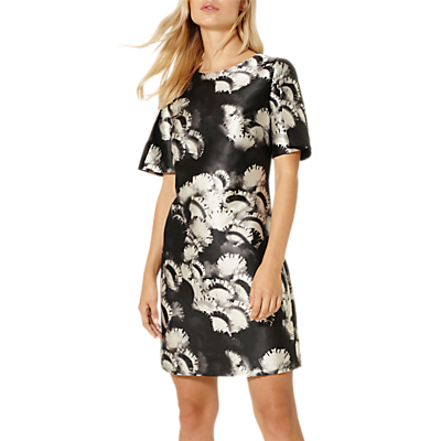 Product photo of Damsel in a dress cuckoo print tunic dress navy neutral