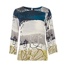 Buy White Stuff Leaf Print Shell Top, Multi Online at johnlewis.com