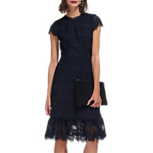 Buy Whistles Niki Scalloped Hem Dress, Navy Online at johnlewis.com
