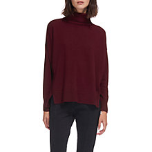 Buy Whistles Cashmere Rib Back Roll Neck Jumper, Red Online at johnlewis.com