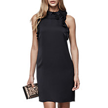 Buy Reiss Jolina Ruffle Neck Dress, Night Navy Online at johnlewis.com