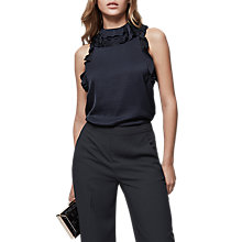 Buy Reiss Dallas Ruffle Neck Sleeveless Top Online at johnlewis.com