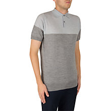 Buy John Smedley Toller Short Sleeve Polo Neck, Grey/Silver Bardot Online at johnlewis.com