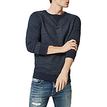 Buy Selected Homme Simon Crew Neck Sweatshirt, Dark Sapphire Online at johnlewis.com