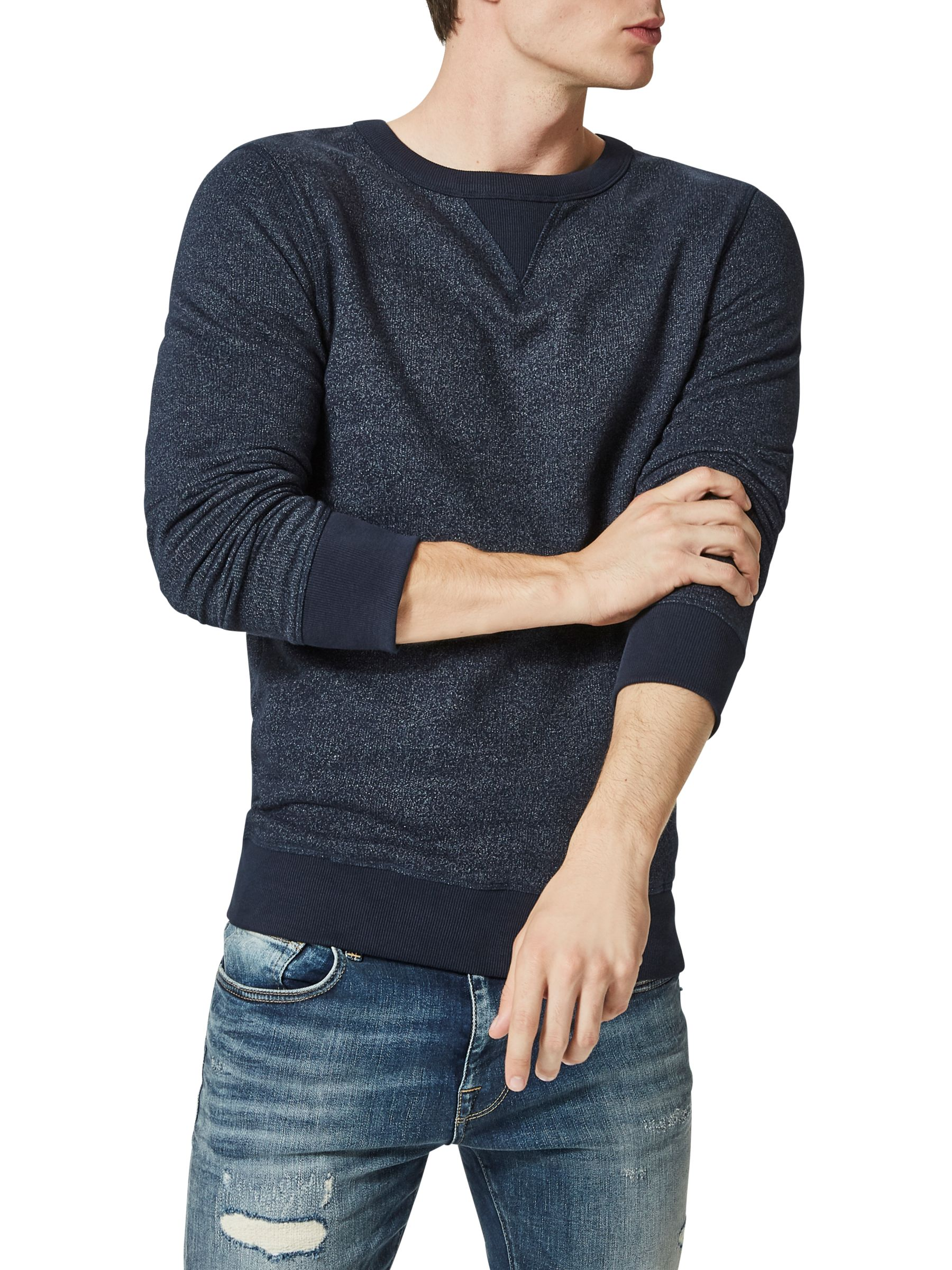 Selected Homme SELECTED HOMME Simon Crew Neck Sweatshirt, Dark Sapphire