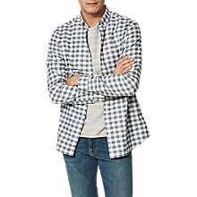 Buy Selected Homme Twosid Checked Long Sleeve Shirt, Egret Checks Online at johnlewis.com