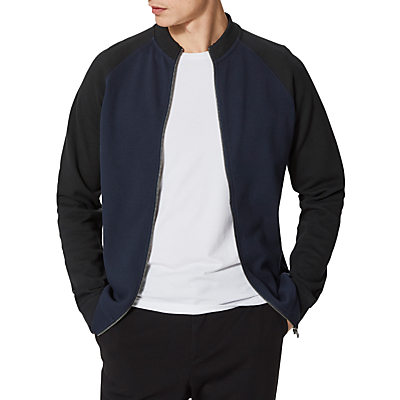 Product photo of Selected homme sami fleece bomber jacket dark sapphire