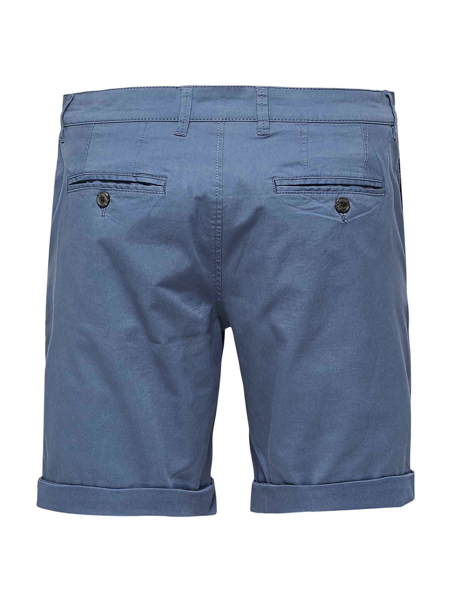 BuySelected Homme Paris Chino Shorts, Vintage Indigo, S Online at johnlewis.com