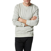 Buy Selected Homme Shhsimon Basic Sweatshirt, Light Grey Melange Online at johnlewis.com
