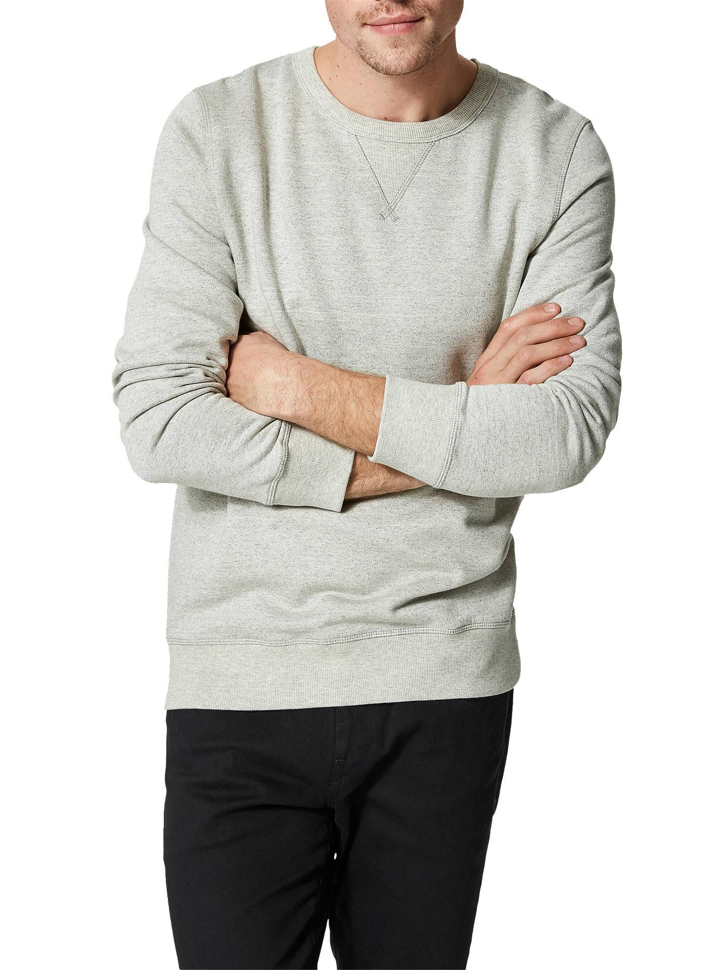 041a5a23b867 Buy SELECTED HOMME Shhsimon Basic Sweatshirt, Light Grey Melange, S Online  at johnlewis.