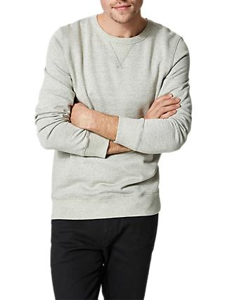 SELECTED HOMME Shhsimon Basic Sweatshirt, Light Grey Melange