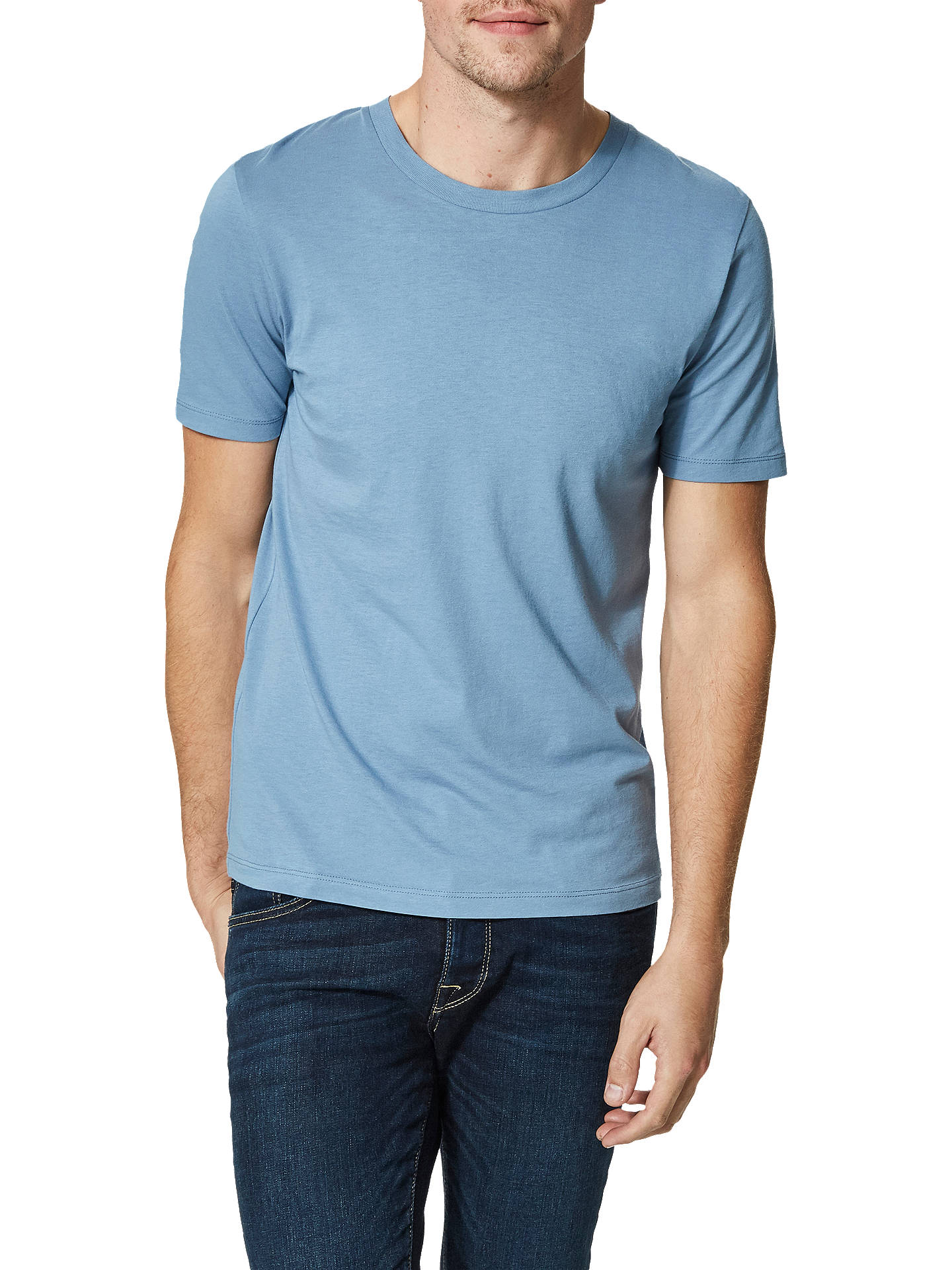 ddd43a0f3706 Buy Selected Homme 'The Perfect Tee' Pima Cotton T-Shirt, Blue Shadow ...