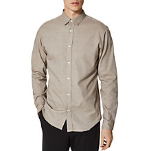 Buy Selected Homme One Sal Long Sleeve Shirt, Walnut Brown Online at johnlewis.com