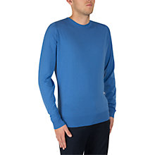 Buy John Smedley Lundy Crew Neck Long Sleeve Pullover, Chambray Blue Online at johnlewis.com