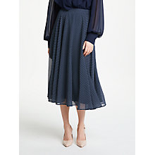 Buy Bruce by Bruce Oldfield Spot Full Skirt, Navy Online at johnlewis.com