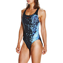 Buy Speedo EnergyFlo Powerback Swimsuit, Black/Violet/Spearmint Online at johnlewis.com